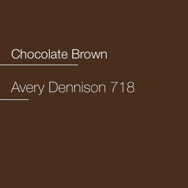 Avery 700-718 Chocolate Brown Premium Film