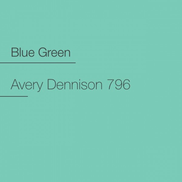 Avery 700-796 Blue Green Premium Film