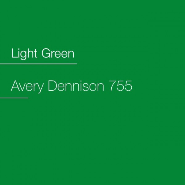 Avery 700-755 Light Green Premium Film