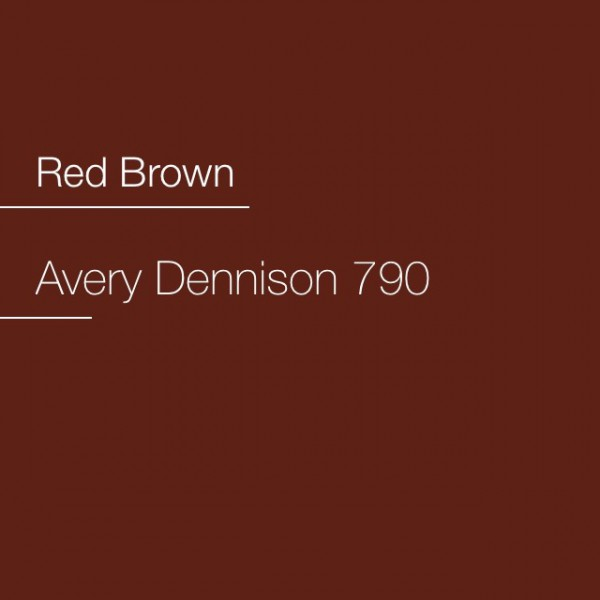 Avery 700-790 Red Brown Premium Film