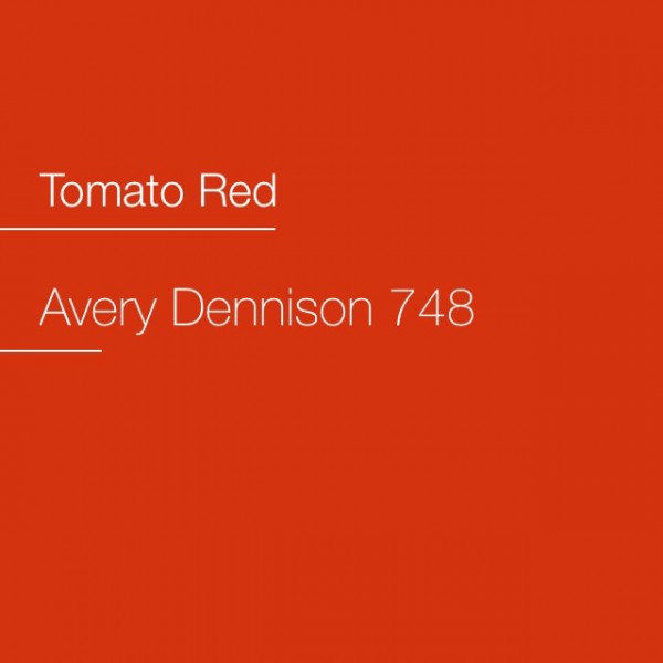 Avery 700-748 Tomato Red Premium Film