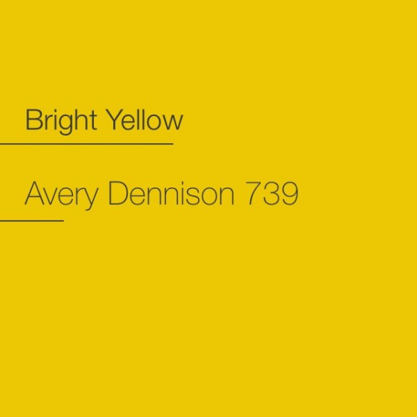 Avery 700-739 Bright Yellow Premium Film