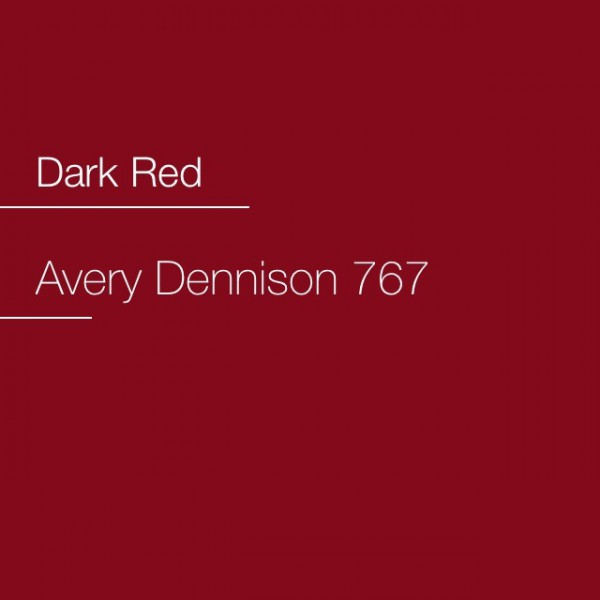 Avery 700-767 Dark Red Premium Film