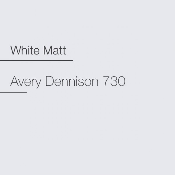 Avery 700-730 White Matt Premium Film